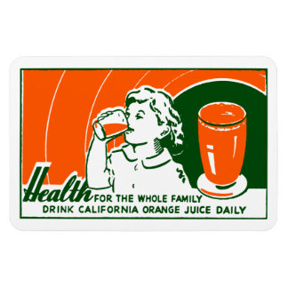 1925 Drink Orange Juice Flexible Magnet