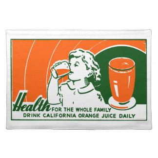 1925 Drink Orange Juice Placemats