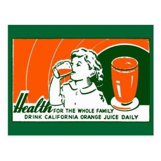 1925 Drink Orange Juice Postcard