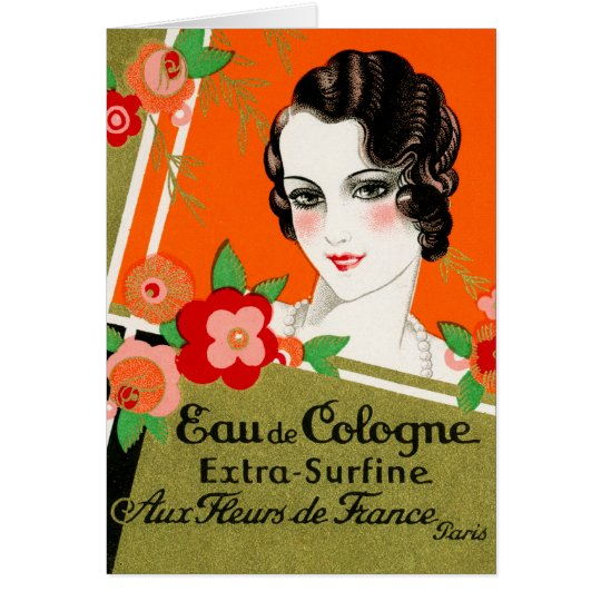 1925 Flowers of France Perfume Card