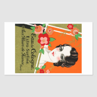 1925 Flowers of France Perfume Rectangular Sticker