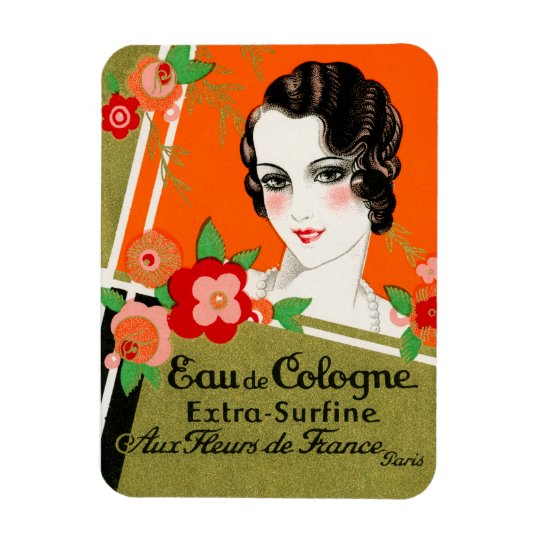 1925 Flowers of Paris France Perfume Magnet