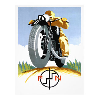 1925 FN Motorcycles Advertising Poster Letterhead