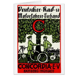 1925 German Bicycle and Motorcycle Club Card
