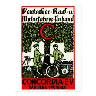 1925 German Bicycle and Motorcycle Club Postcard