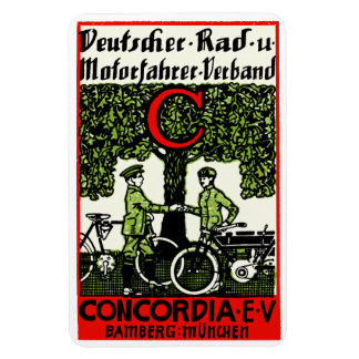 1925 German Bicycle and Motorcycle Club Rectangular Photo Magnet