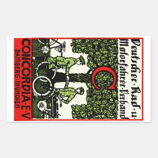 1925 German Bicycle and Motorcycle Club Rectangular Sticker