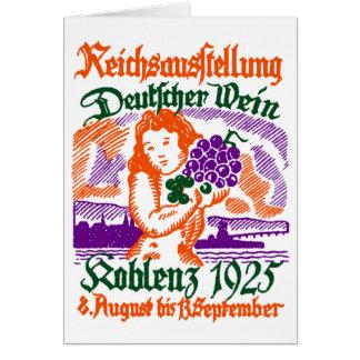 1925 German Wine Festival Card