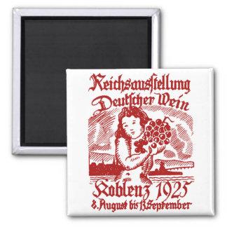 1925 German Wine Festival Fridge Magnet
