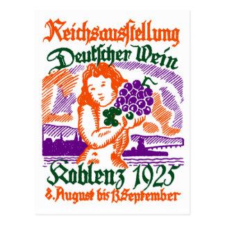 1925 German Wine Festival Postcard