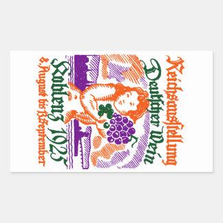 1925 German Wine Festival Rectangular Sticker