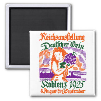 1925 German Wine Festival Refrigerator Magnet