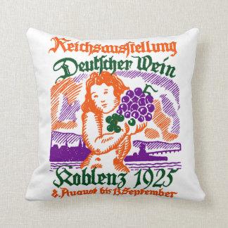 1925 German Wine Festival Throw Pillow