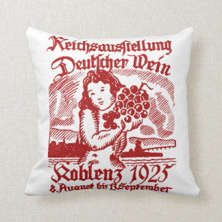 1925 German Wine Festival Throw Pillows