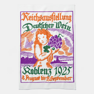 1925 German Wine Festival Towel
