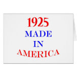 1925 hizo en América Tarjeta