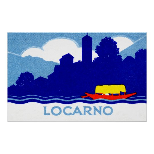 1925 Locarno Switzerland Poster