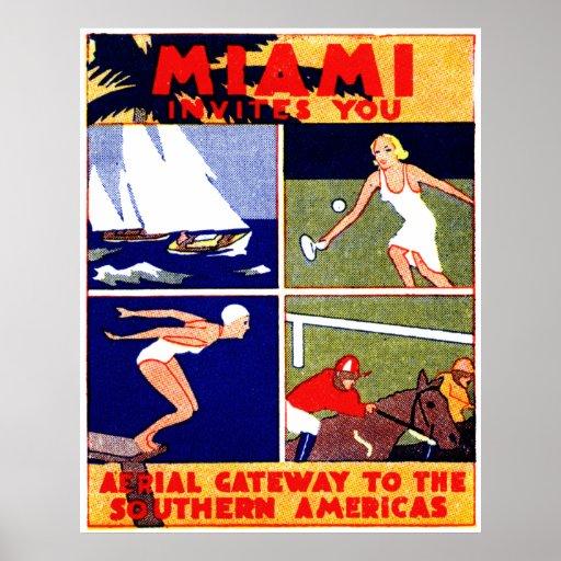 1925 Miami Travel Poster
