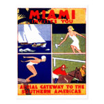 1925 Miami Travel Poster Postcards