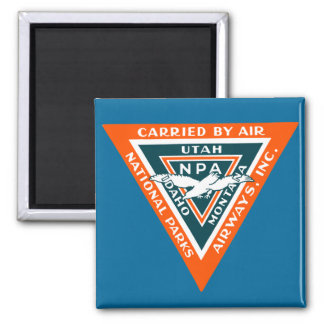 1925 National Parks Airways 2 Inch Square Magnet