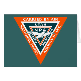1925 National Parks Airways Card