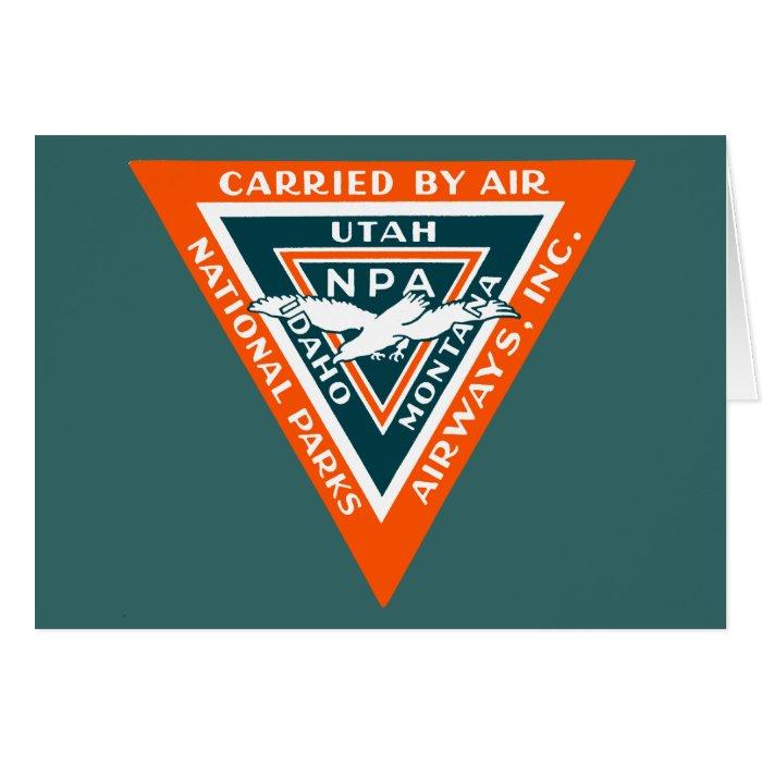 1925 National Parks Airways Card
