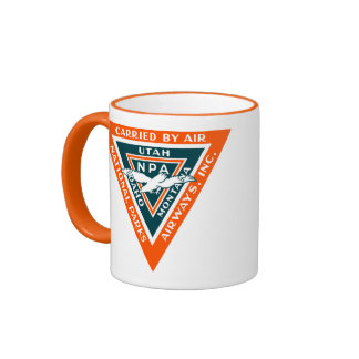 1925 National Parks Airways Ringer Mug