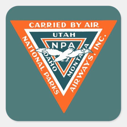1925 National Parks Airways Square Sticker