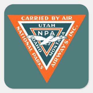 1925 National Parks Airways Sticker