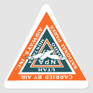 1925 National Parks Airways Triangle Sticker