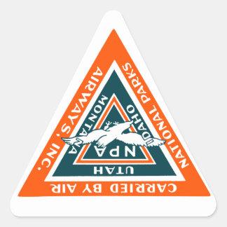 1925 National Parks Airways Triangle Sticker