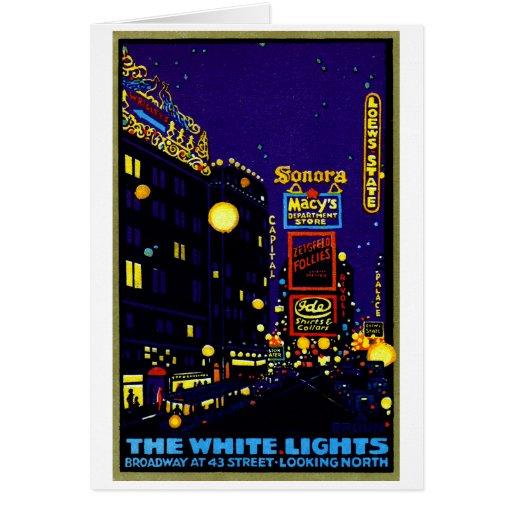 1925 New York City at Night Cards