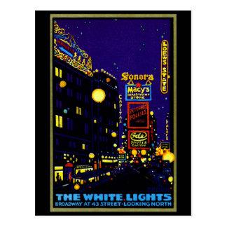 1925 New York City at Night Postcard