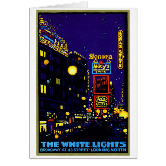1925 New York City at Night Stationery Note Card