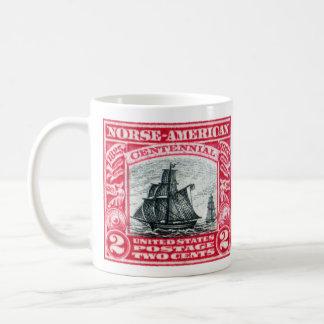 1925  Norse American Stamp Coffee Mugs
