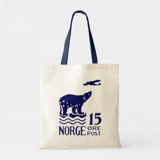1925 Norwegian Polar Bear Tote Bags