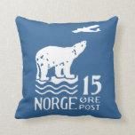 1925 Norwegian Polar Bear Pillow