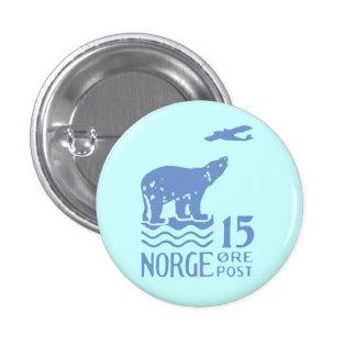 1925 Norwegian Polar Bear Pinback Buttons