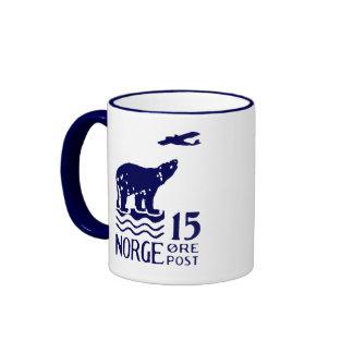 1925 Norwegian Polar Bear Ringer Mug