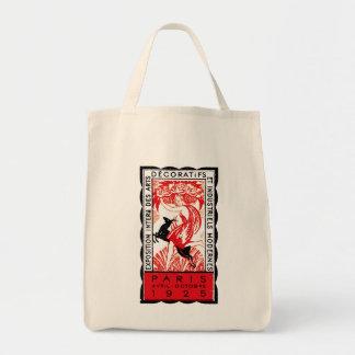 1925 Paris Art Deco Poster Grocery Tote Bag