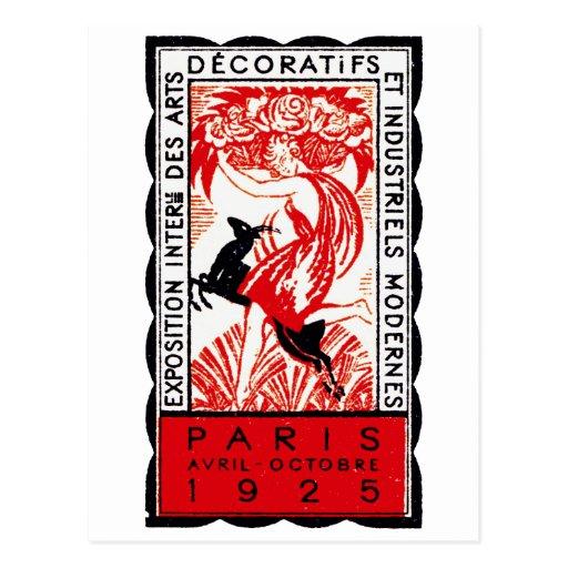 1925 Paris Art Deco Poster Post Card