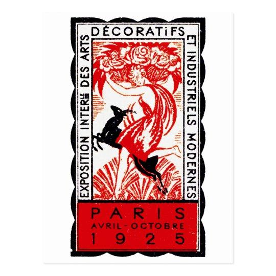 1925 Paris Art Deco Poster Postcard