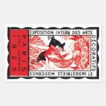 1925 Paris Art Deco Poster Rectangle Sticker