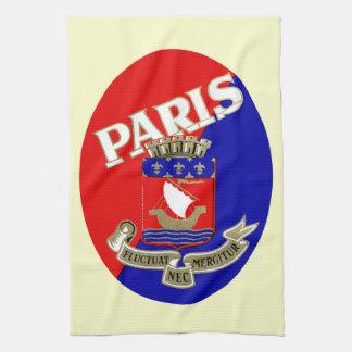1925 Paris Luggage Label Hand Towels