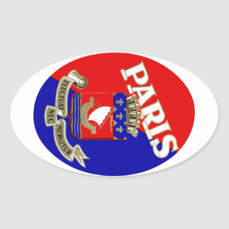 1925 Paris Luggage Label Oval Sticker