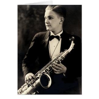 1925 Sax Musician Card