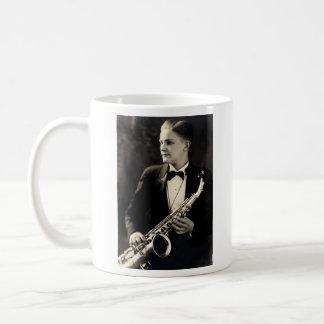 1925 Sax Musician Classic White Coffee Mug