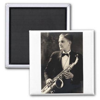 1925 Sax Musician Magnets