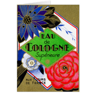 1925 Superieure Flowers of France perfume Greeting Card