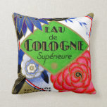 1925 Superieure Flowers of France perfume Throw Pillow